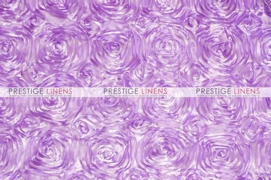 Rosette Satin Table Runner - Lavender