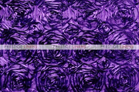 Rosette Satin Table Runner - Lt Purple