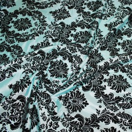 FLOCKING DAMASK TAFFETA