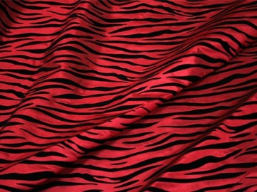 FLOCKING ZEBRA TAFFETA