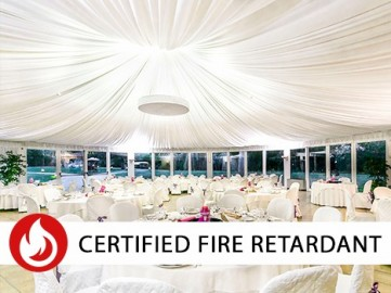 FIRE RETARDANT DRAPING