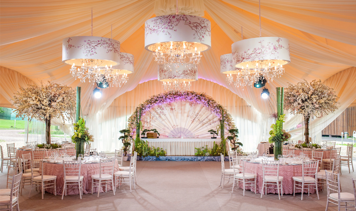 Ceiling drapes and Event draping